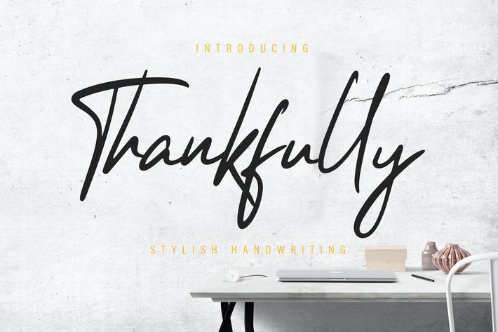Cover Image For Thankfully Stylish Script
