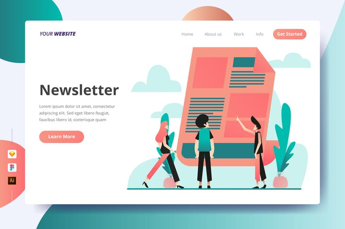 Thumbnail for Newsletter - Landing Page