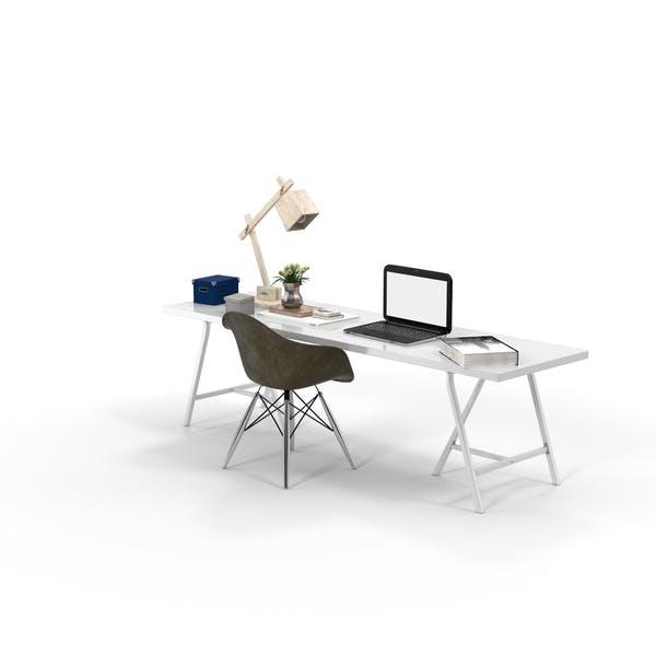 Cover Image for Weißer Schreibtisch, brauner Stuhl und New Yorker Buch