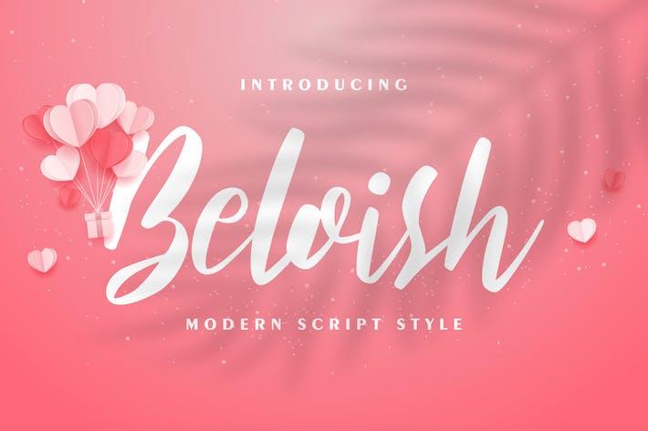 Beloish | Modern Script Style