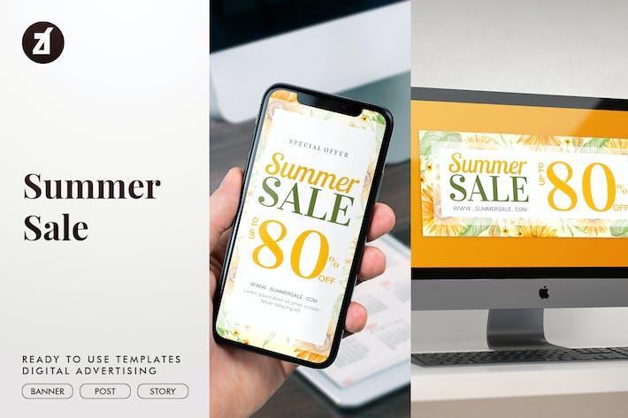 Thumbnail for Soldes d'été - Publicité sur les médias sociaux