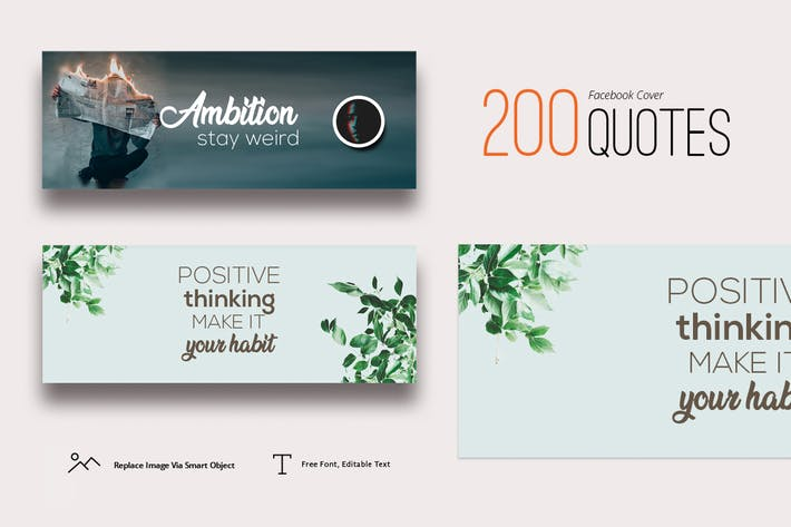 Thumbnail for 200 Facebook Cover Quotes