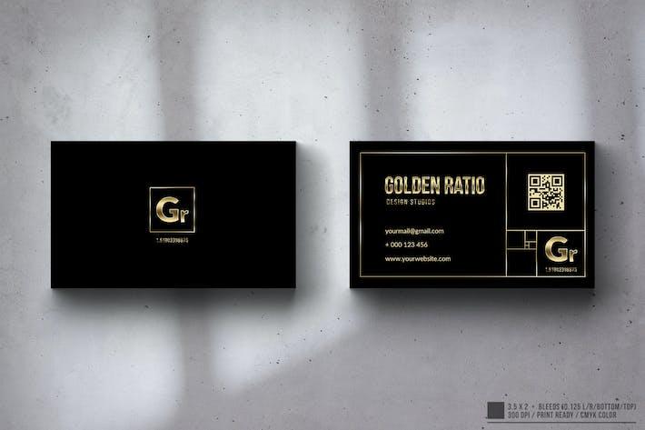 Thumbnail for Golden Ratio Elegant Business Card Design