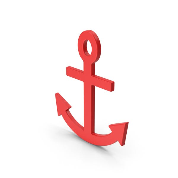 Symbol Anchor Red