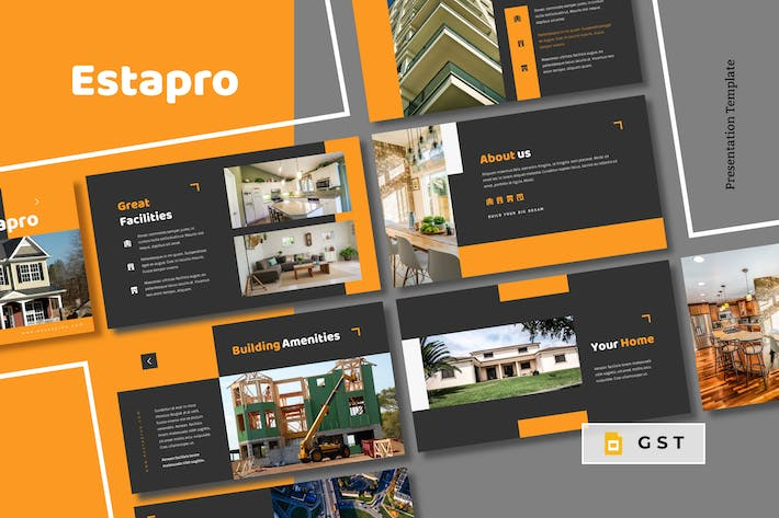Thumbnail for ESTAPRO - Real Estate Google Slides Template