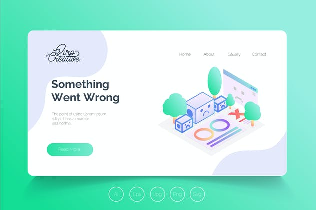 Isometric Landing Page QRS15