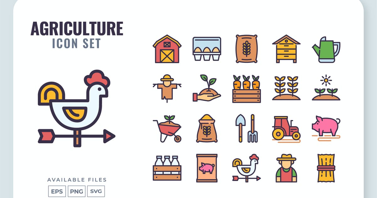 Download Agriculture Icon Set by yellowline_std