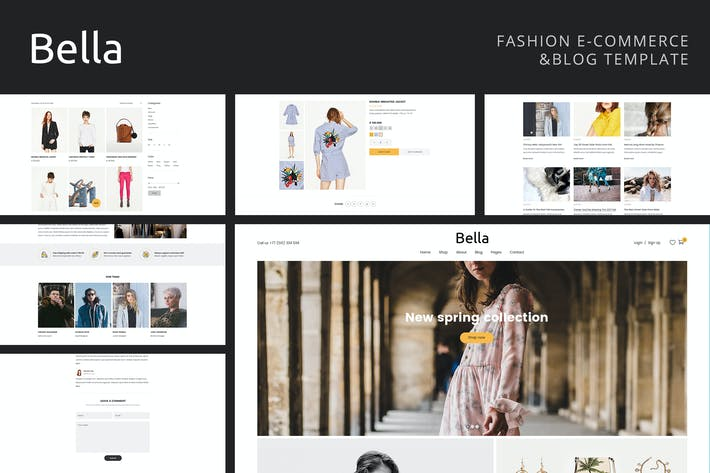 Thumbnail for Bella - Multipurpose Fashion eCommerce Template