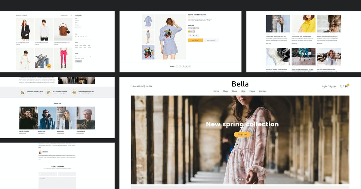 Download Bella - Multipurpose Fashion eCommerce Template by AuThemes