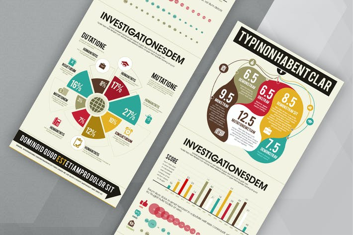 Thumbnail for Marketing Infographics PSD Template