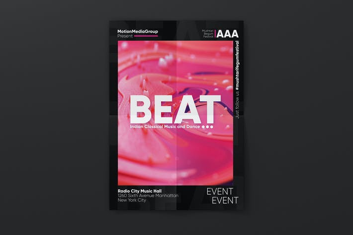 Affiche d'événement créatif