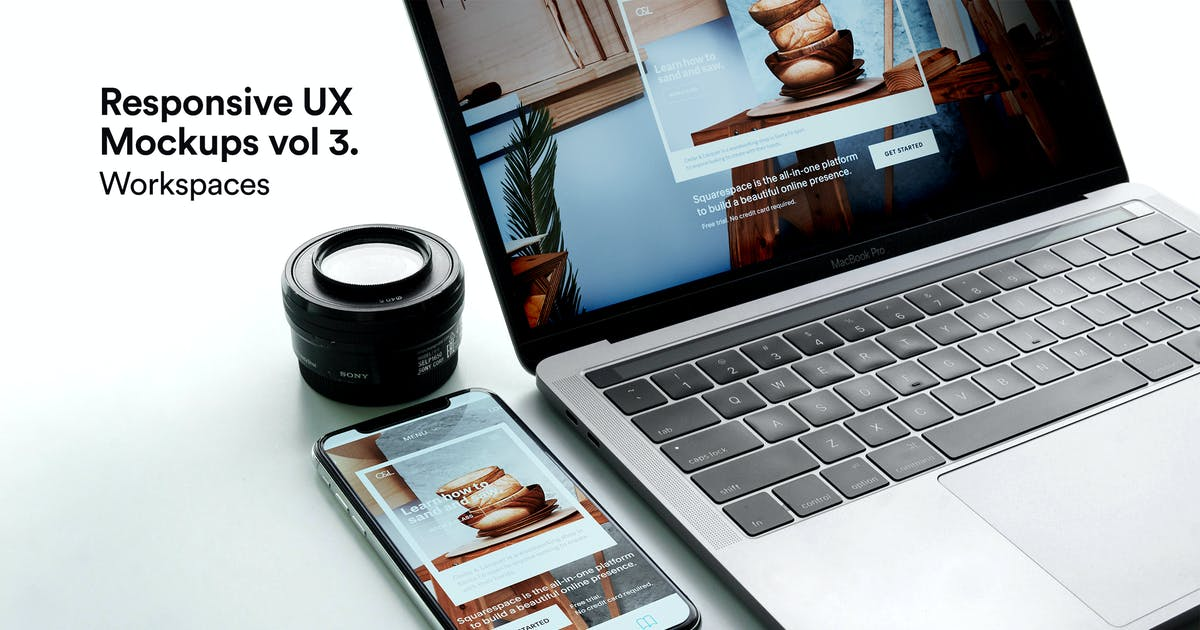 Download Macbook Mockups Vol 03 -  iPhone Responsive by itscroma
