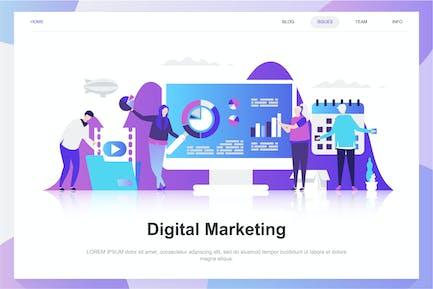 Digital Marketing Flat Concept