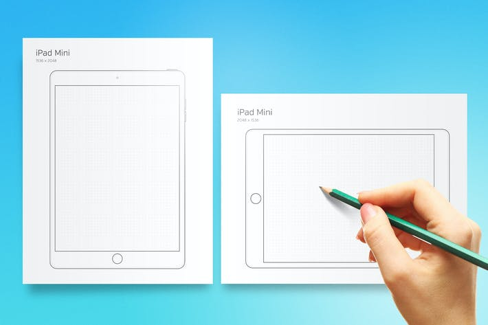 Thumbnail for Printable iPad Mini Prototyping Sheet