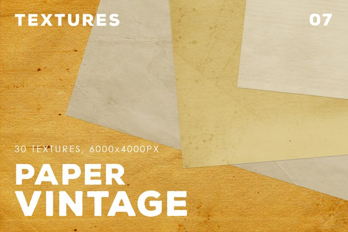 Cover Image For 30 Vintage Paper Textures | 07