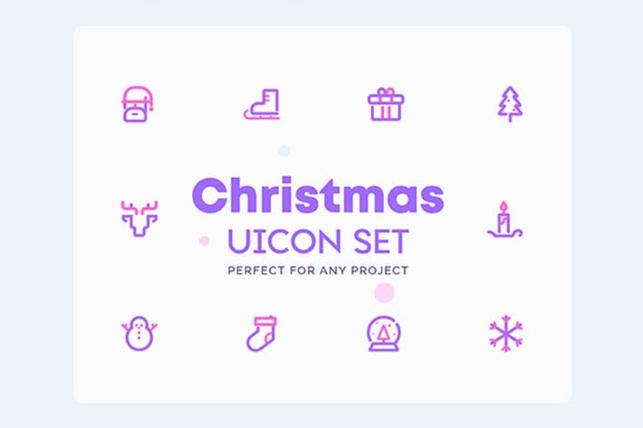 Thumbnail for UICON - Christmas, Winter Icons Set