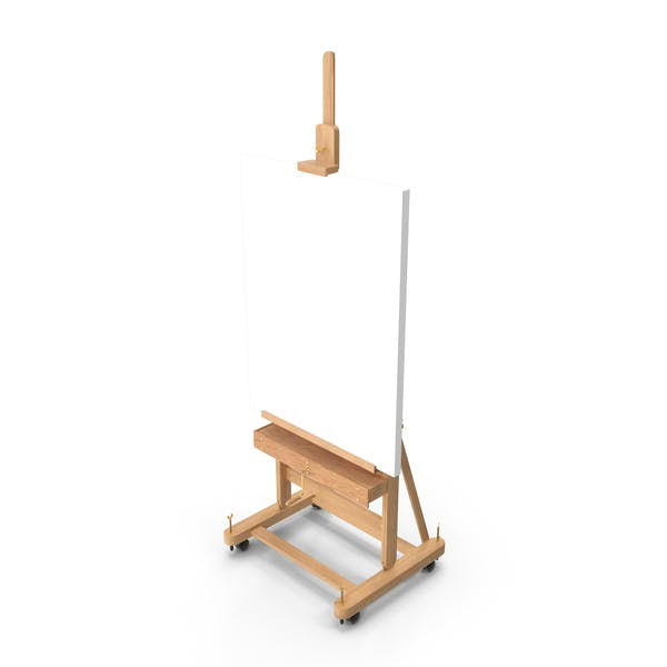 Studio Easel with Clean Canvas