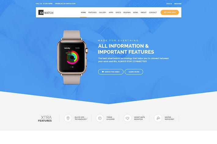 Thumbnail for Ex Watch - Single Product eCommerce HTML