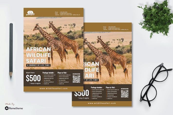 Thumbnail for Wildlife Safari - Travel Flyer RB