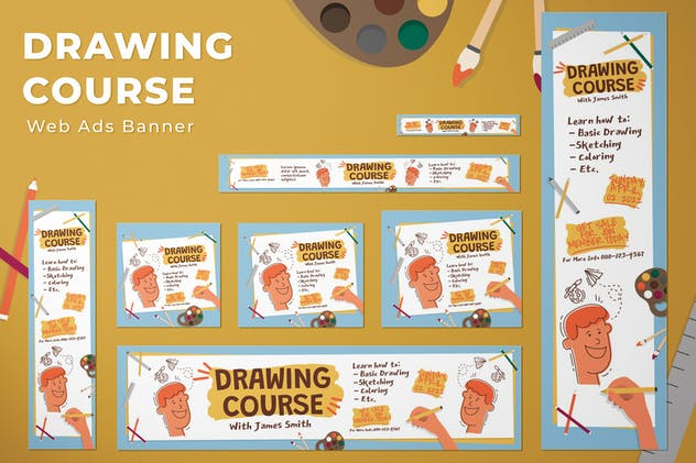 Web Ads Banners - Drawing Course