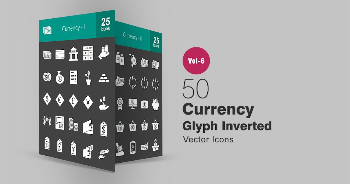 Download 50 Currency Glyph Inverted Icons by IconBunny