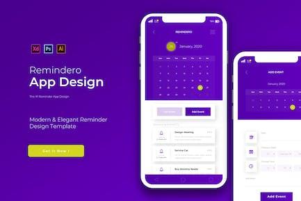 Remindero | App Design Template