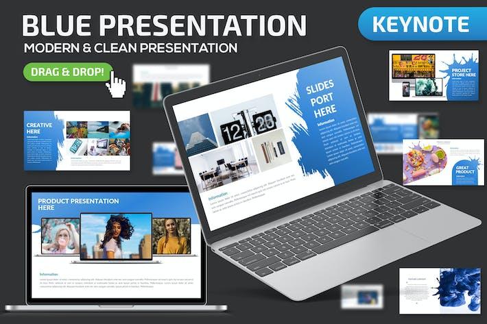 Thumbnail for Blue Keynote Presentation