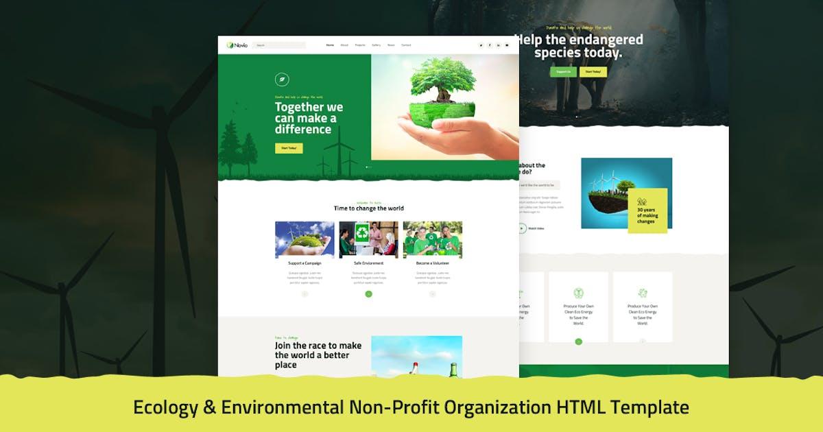 Download Novio - Ecology & Environmental Non-Profit HTML by Layerdrops
