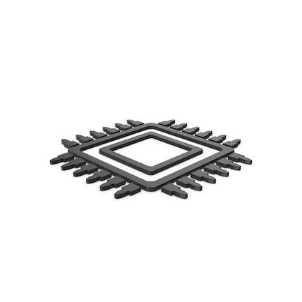 Black Symbol Microchip