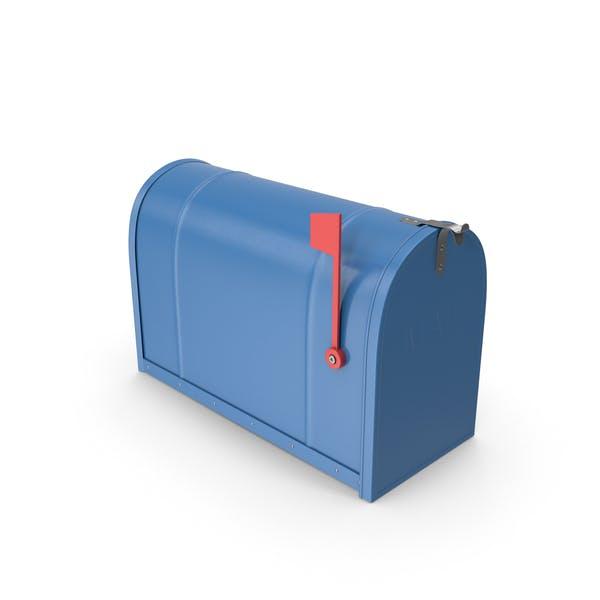 Mailbox Closed Blue
