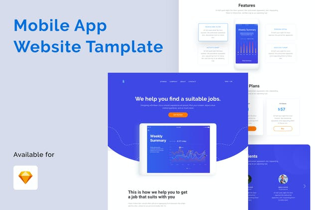 Mobile Application Website Template