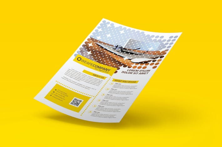 Thumbnail for Yellow Multipurpose Business Flyer
