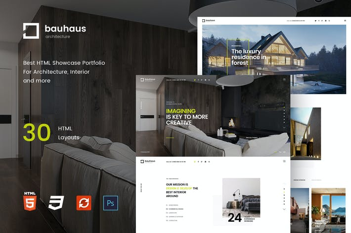Thumbnail for Bauhaus - Interior & Architecture   HTML Template