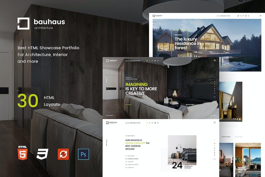 Bauhaus - Interior & Architecture   HTML Template