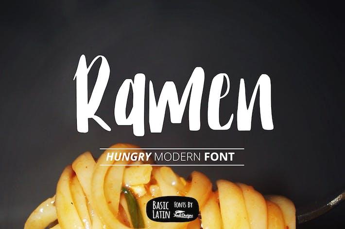 Thumbnail for Ramen Modern Font