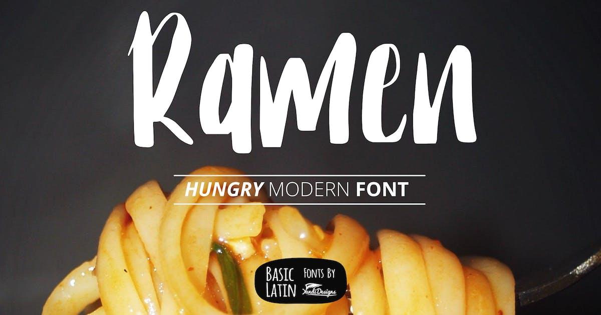 Download Ramen Modern Font by yandidesigns