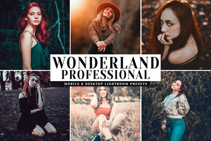 Thumbnail for Wonderland Pro Mobile & Desktop Lightroom Presets