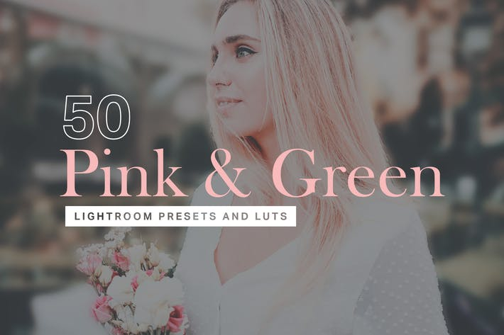 Thumbnail for 50 Pink & Green Lightroom Presets and LUTs