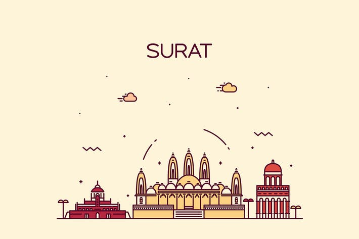 Thumbnail for Surat skyline, India
