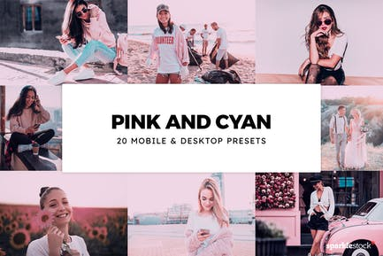 20 Pink and Cyan Lightroom Presets & LUTs