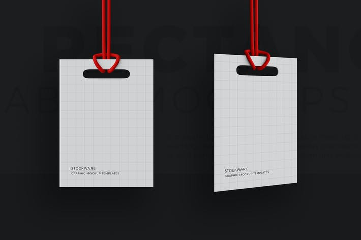 Thumbnail for Rectangle Label Mockups