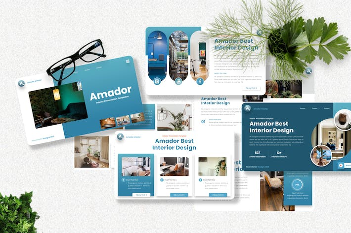 Thumbnail for Amador - Interior Powerpoint Template