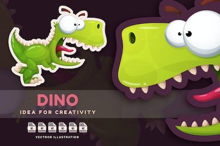 Crazy Dinosaur - Cute Sticker