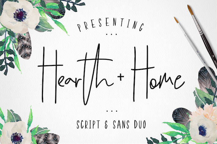 Thumbnail for Hearth & Home Font Duo