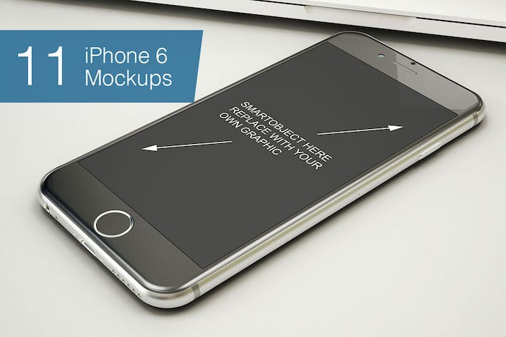 Thumbnail for Phone Mockup - 11 Poses