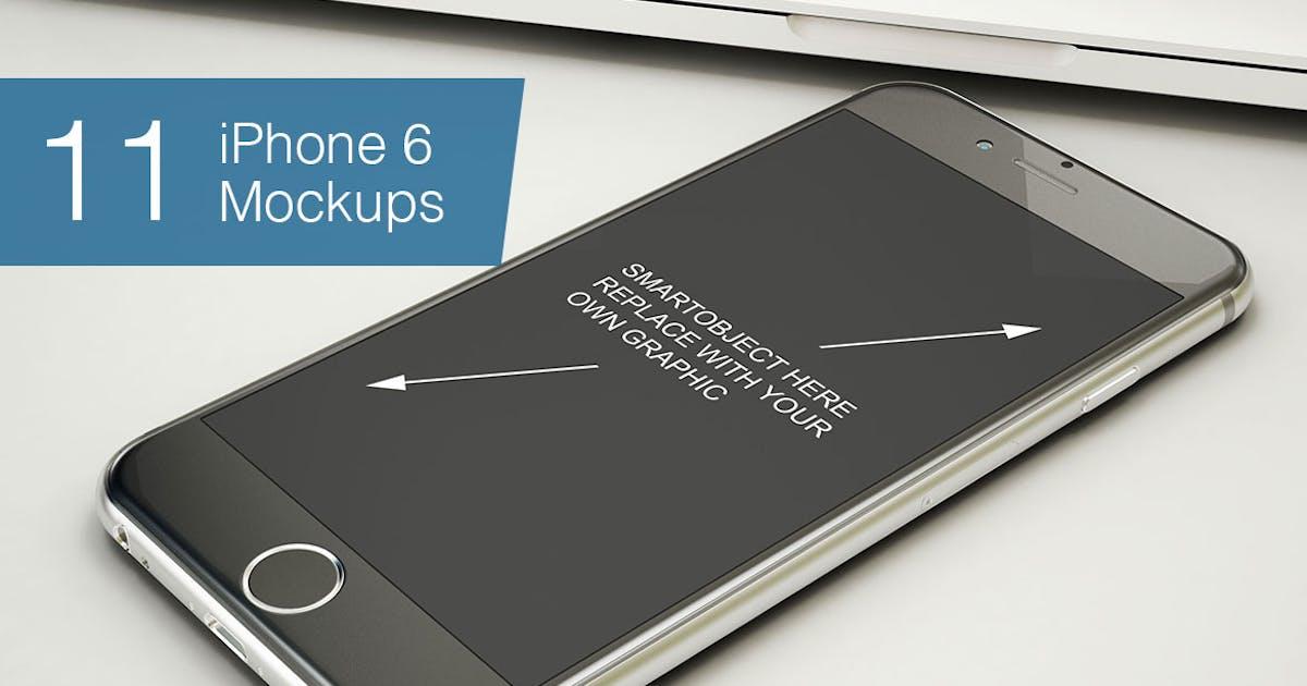 Download Phone Mockup - 11 Poses by smartybundles