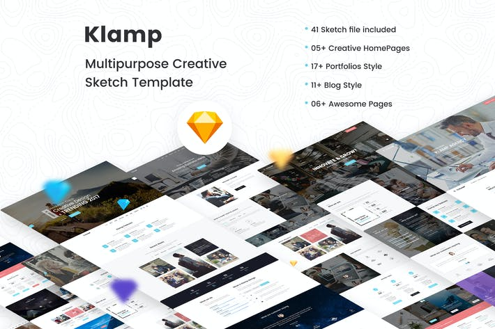 Thumbnail for Klamp - Creative Multipurpose Sketch Template