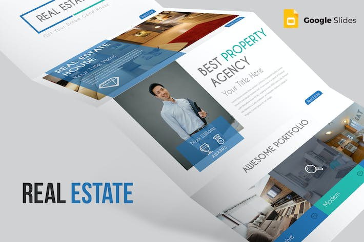 Thumbnail for Real Estate Google Slides Template