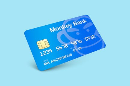 Maqueta de tarjetas de crédito y débito