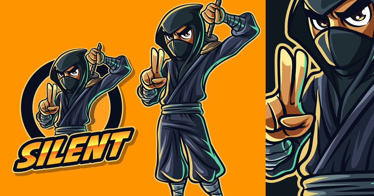 Download Modern Cartoon Ninja Mascot Logo 2.0 by Suhandi